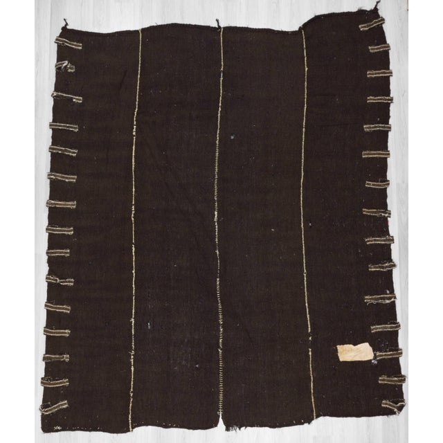 Vintage Dark Brown Nomad Tente Kilim Rug - 10′2″ × 11′10″ For Sale In Los Angeles - Image 6 of 6