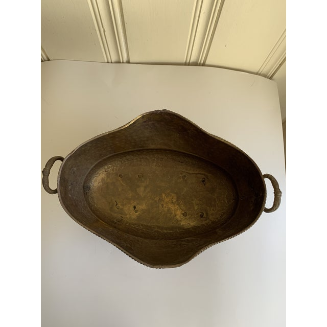 1990s Classic English Cottage Style Aged Brass Plant Vessel For Sale - Image 5 of 13