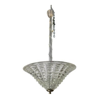 1960s Vintage Murano Glass Chandelier by Ercole Barovier For Sale