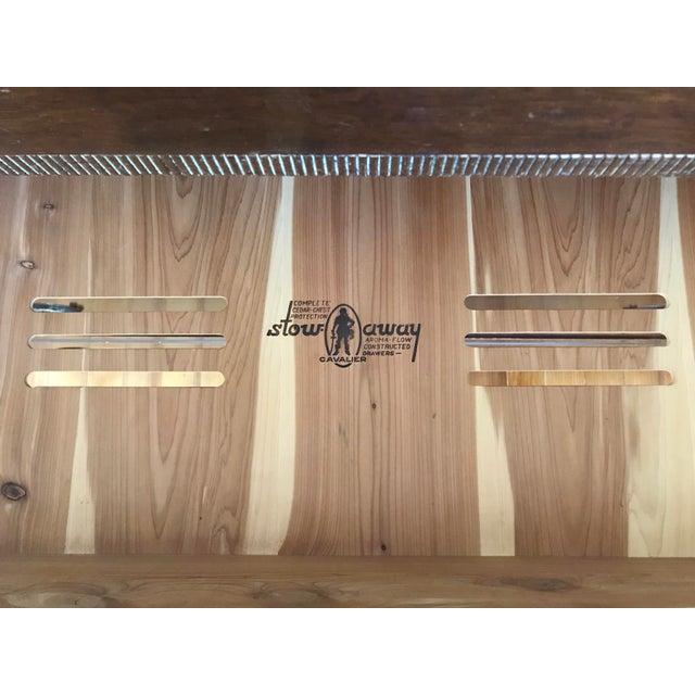Vintage Cavalier Stow Away Cedar Dresser For Sale - Image 11 of 13