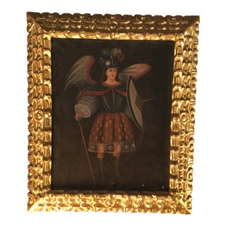 1890s Painting of Saint Michael For Sale