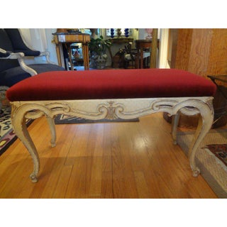 1920's Vintage Italian Painted and Gilt Wood Bench Preview