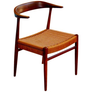 Hans Wegner Style Armchair by Dux For Sale