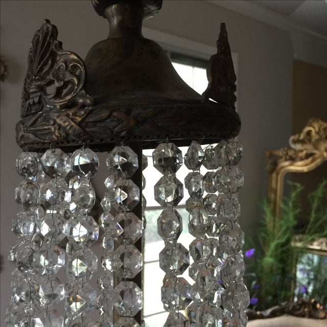 Acanthus Drop Crystal Chandelier For Sale - Image 5 of 9