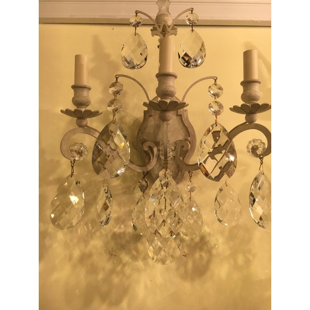 Set of six Schonbek three light Renaissance style wall sconces. From a Greenwich CT Mansion comes the most spectacular...
