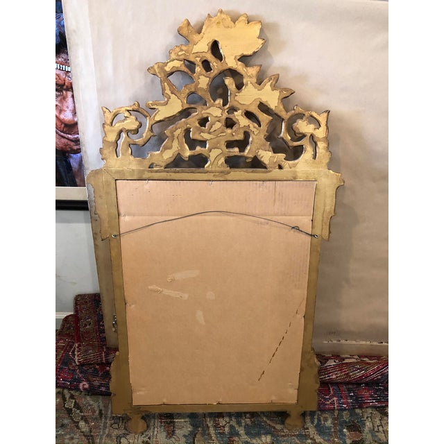 Antique French Gold Leaf Wall Mirror For Sale In Los Angeles - Image 6 of 7