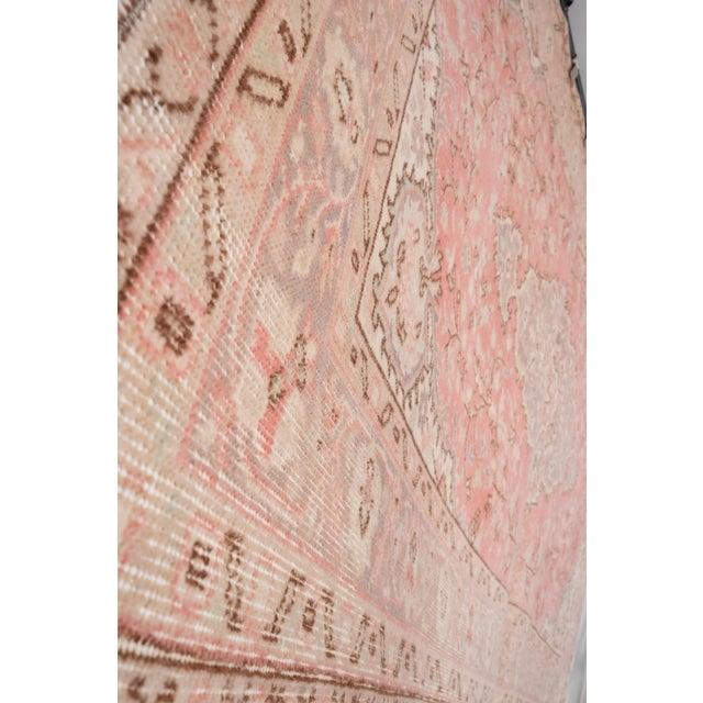 """Textile Vintage Floral Woolen Sparta Rug 6' X 8'9"""" For Sale - Image 7 of 11"""