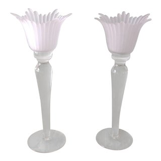 Crystal Candle Sticks - A Pair