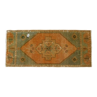 "Hand Knotted Door Mat, Entryway Rug, Bath Mat, Kitchen Decor, Small Rug, Turkish Rug - 1'5"" X 3'2"" For Sale"