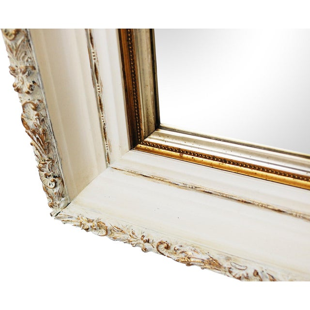 Large Antique Cream and Gold Mirror - Image 5 of 6