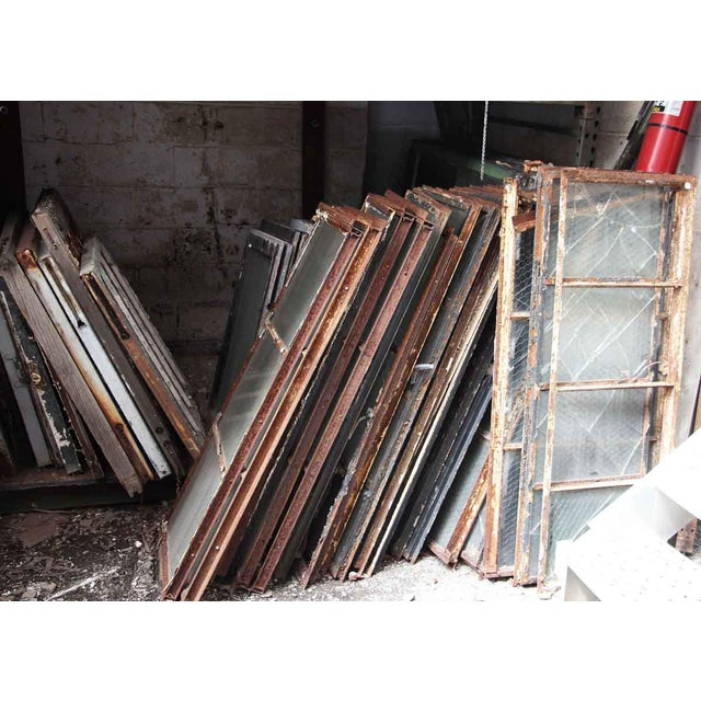 Encasement Window Chicken Wire Glass Panels For Sale - Image 4 of 4