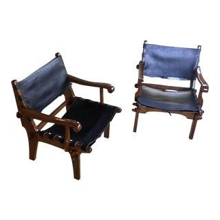 Sergio Rodrigues JacarandaArm Chairs - a Pair