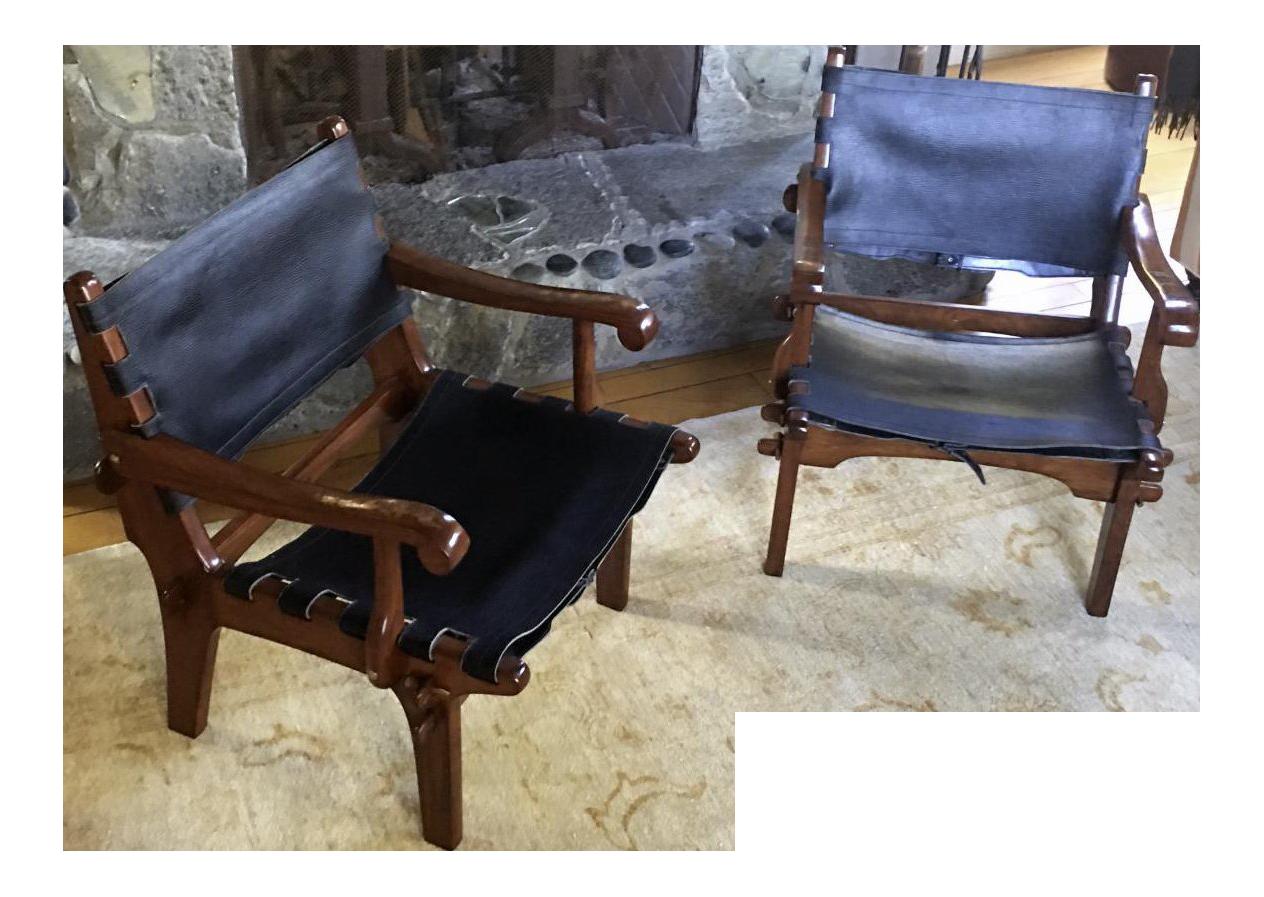 Sergio Rodrigues JacarandaArm Chairs   A Pair