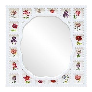 Fleur Home x Chairish Liz Marsh Scallop Lattice Mirror For Sale