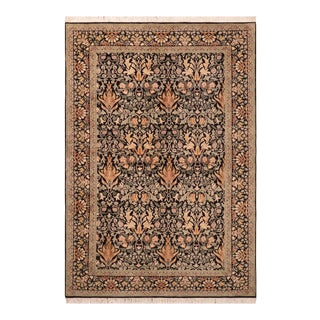 Art Nouveau William Morris Pak Persian Elayne Wool Area Rug For Sale