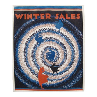 1920s Vintage British Art Deco Tip-On, Winter Sales