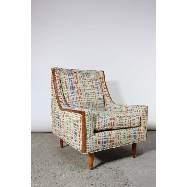Mid-Century American Modern Lounge Chair with Walnut Border - Image 4 of 9