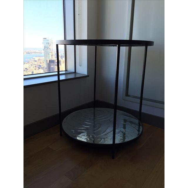 Oly Studio Oly Studios Jonathan Antiqued Mirrored Accent Table For Sale - Image 4 of 6