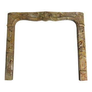 Louis XV Style Sarrancolin Framboise Marble Mantlepiece For Sale
