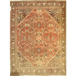 "Pasargad Antique Persian Mahal Lamb's Wool Rug - 9' X 12'2"" For Sale"