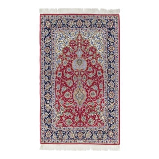 """Isfahan, Hand Knotted Persian Rug - 3' 7"""" X 5' 9"""" For Sale"""