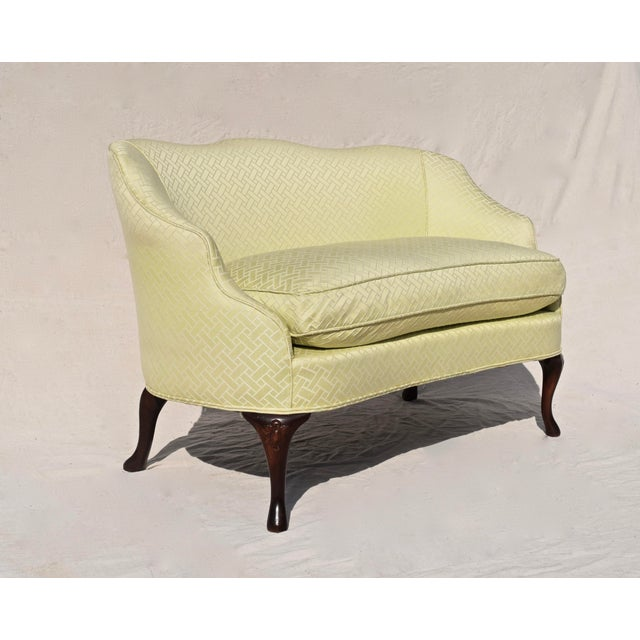 Curved Camel Back Demi Settee For Sale - Image 4 of 14