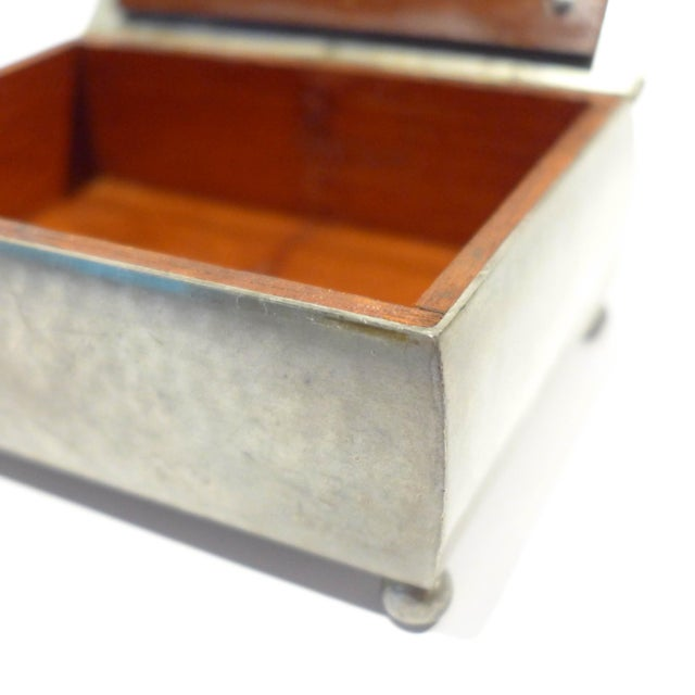 Metal Modernist Footed Pewter Box by Just Andersen For Sale - Image 7 of 8