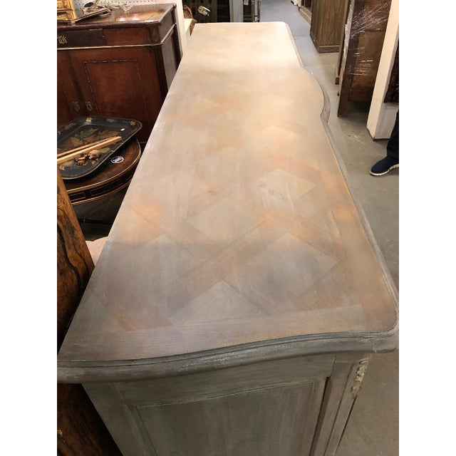 19th Century French Louis XV Graphite Washed Enfilade For Sale - Image 4 of 8