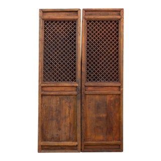 Antique Chinese Garden Lattice Door For Sale