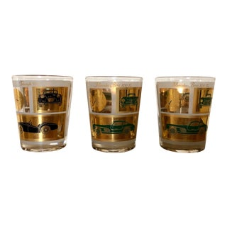 Mid-Century Luxury Sports Car Glasses - Set of 3 For Sale