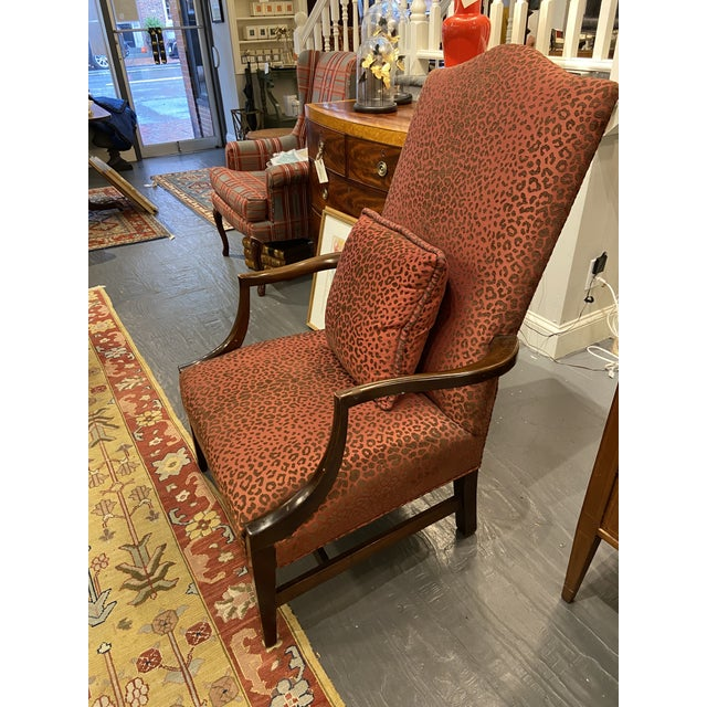 Wood 19th Century English Mahogany Lolling Chair For Sale - Image 7 of 9