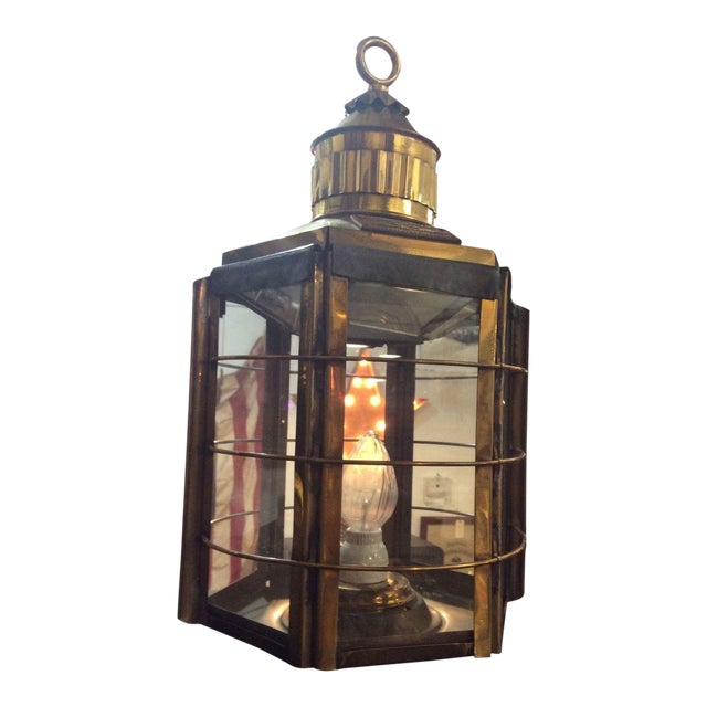 Antique Clipper Ship Lamp - Image 1 of 6