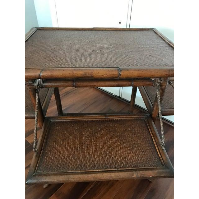 Vintage Boho Chic Serving Bar Cart - Image 7 of 9