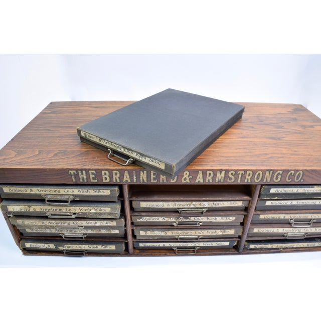 Brown Antique Brainerd&Armstrong Co Filing Cabinet For Sale - Image 8 of 10
