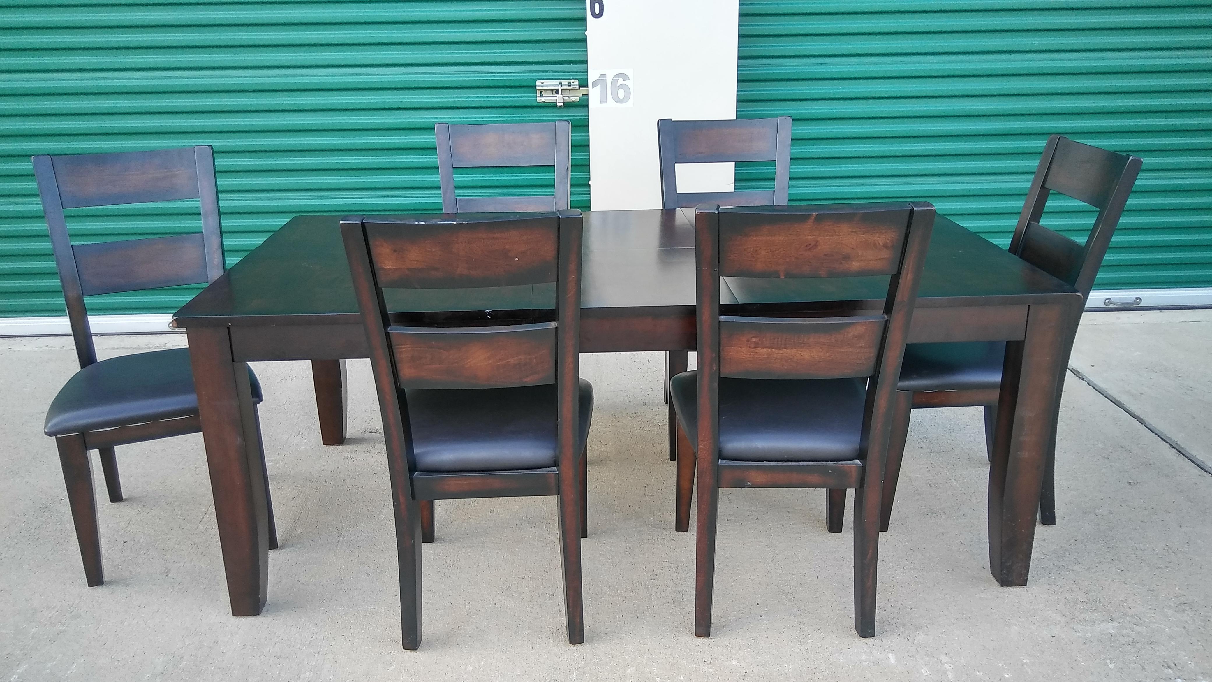 7 Piece Star Furniture Espresso Colour Dining Room Set   Image 2 Of 5