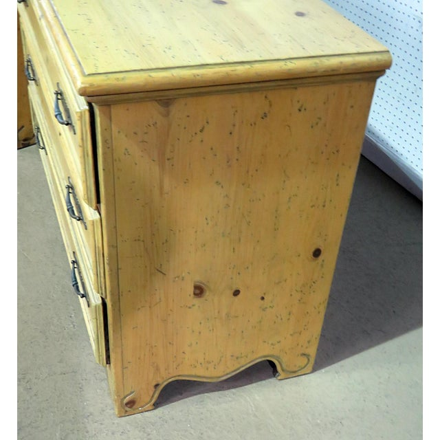 Early 20th Century French Country Pine Commodes - a Pair For Sale - Image 5 of 7
