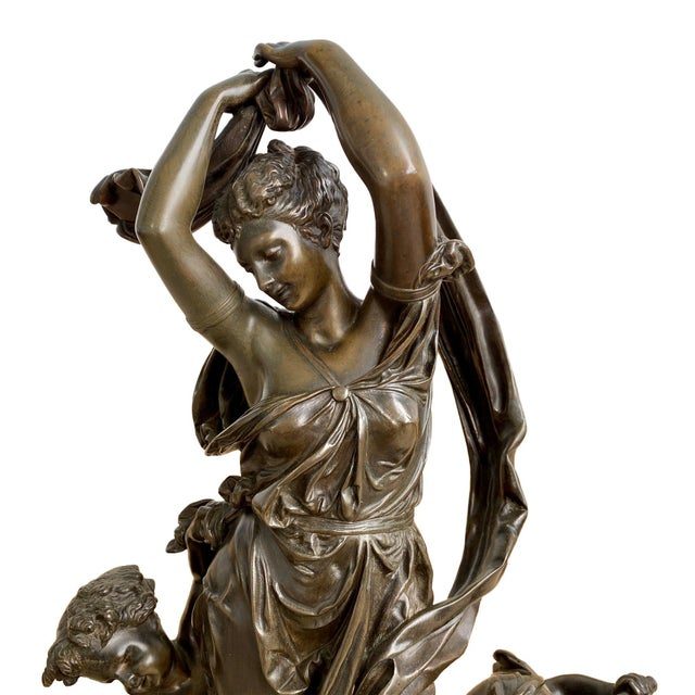 Late 19th Century Albert Carrier Belleuse French Bronze Figure For Sale - Image 4 of 6