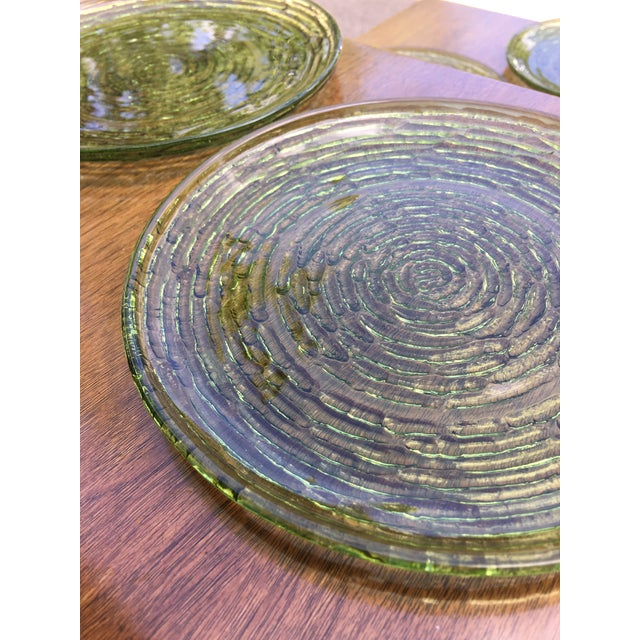 Vintage Libbey Rock Sharpe Olive Green Salad Plates- Set of 5 - Image 4 of 6
