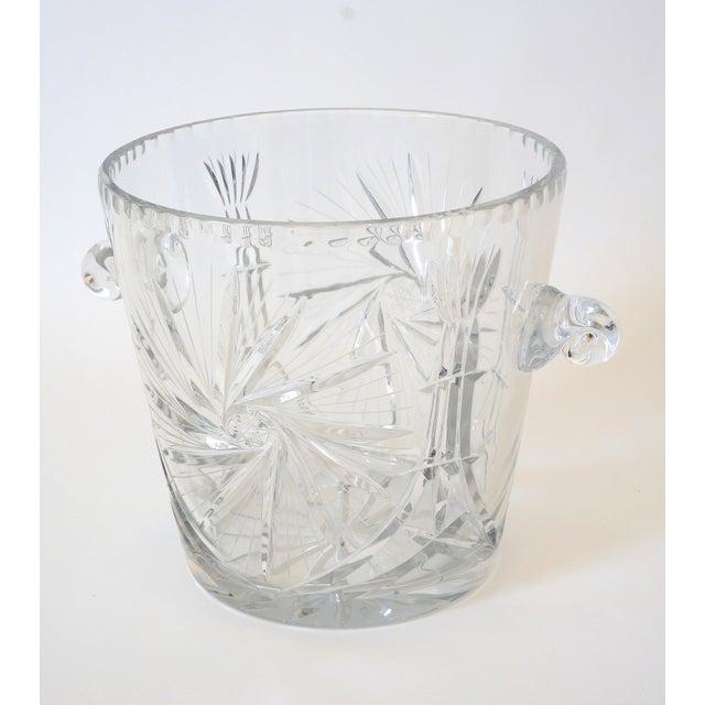 Vintage Ice Bucket Lead Crystal Pressed Design For Sale - Image 13 of 13