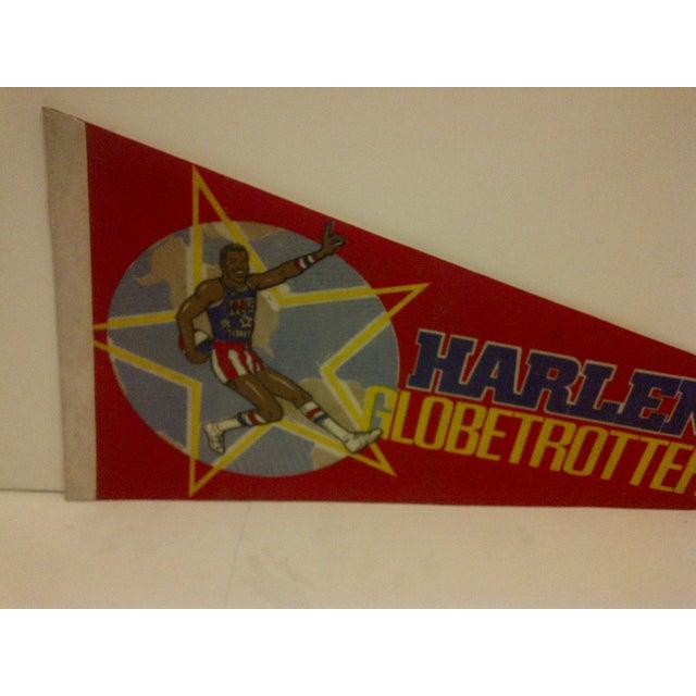 Mid-Century Modern Vintage Harlem Globetrotters Basketball Team Pennant For Sale - Image 3 of 6