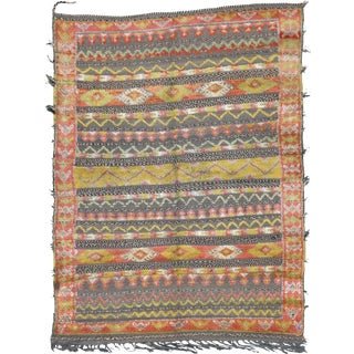 """Mid 20th Century Moroccan Berber Rug - 4'5"""" X 5'11"""" For Sale"""