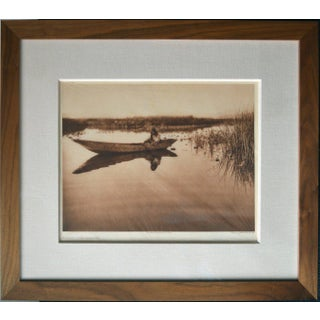 "Edward Sheriff Curtis Plate 456 ""Klamath Lake Marshes"" From the North American Indian Sepia Printed Photogravure Engraving on Japanese Tissue For Sale"