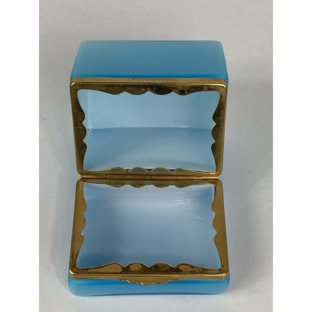 Turquoise Early 20th Century Turquoise Murano Casket Box For Sale - Image 8 of 9