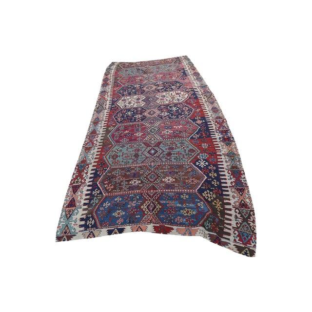 "Antique Turkish Kilim - 5'4"" x 12'6"" - Image 1 of 4"