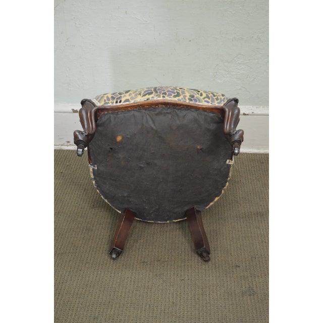 Antique Victorian Walnut Frame Slipper Chair - Image 5 of 11