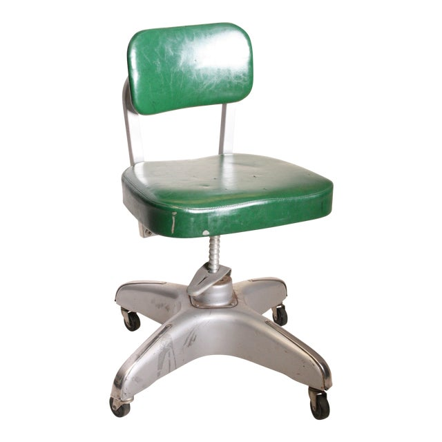 Vintage Cole Steel Industrial Swivel Office Chair For Sale