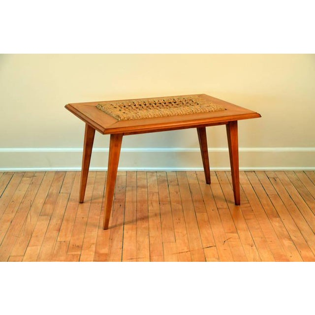 Rare Oak and Rope Side Table by Adrien Audoux and Frida Minet For Sale In Los Angeles - Image 6 of 6