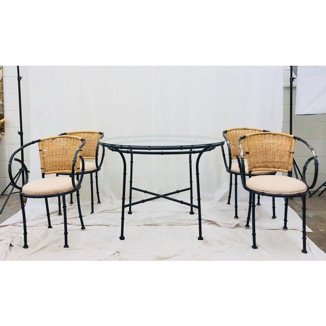 Vintage Regency Style Dining Set For Sale - Image 4 of 12