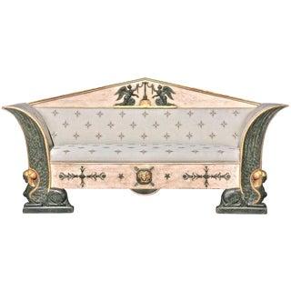 Early 19th Century Swedish Gustavian Russian Neoclassical Sofa For Sale