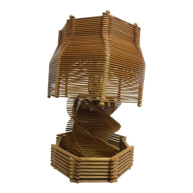 1960's Folk Art Lamp - Image 1 of 6
